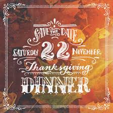 lettering save the date for thanksgiving dinner creatifolio