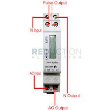 single phase electricity kwh sub meter 45 amp