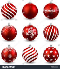 red christmas balls on white surface stock vector 164546492