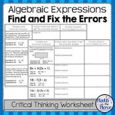 writing algebraic expressions pre algebra vocabulary notes