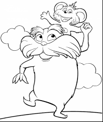 awesome dr seuss lorax coloring with the lorax coloring pages