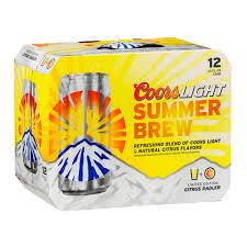 coors light on sale near me coors light summer brew citrus radler reviews