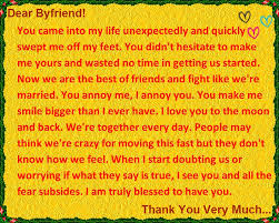 i you and thank you letter to your boyfriend