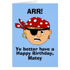 funny pirate birthday cards greeting u0026 photo cards zazzle