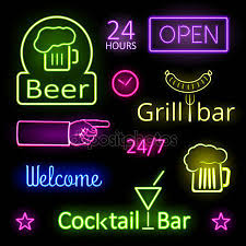 Neon Bar Lights Bar Stock Vectors Royalty Free Bar Illustrations Depositphotos