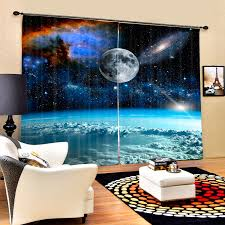 Outer Space Curtains Aliexpress Com Buy Galaxy Starry Sky 3d Blackout Curtains