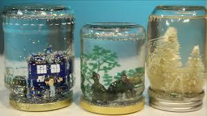 mason jar snow globe diy youtube