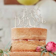how to your cake topper best day wooden cake topper decoration by