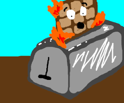Death Toaster Waffle Burns To Death In Toaster