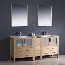 Fresca Bathroom Vanity by Shop Fresca Bari Light Oak Undermount Double Sink Bathroom Vanity