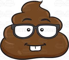 nerdy pile poo cartoon clipart vector toons