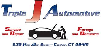 car service logo triple j automotive auto repair services cheshire ct