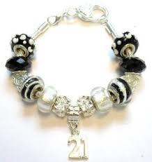 birthday charm bracelet buy 21st birthday charm bracelet womens pandora style gift boxed