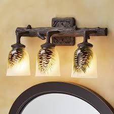 Log Cabin Bathroom Vanities by Rustic Vanity Lighting U0026 Cabin Bathroom Lights