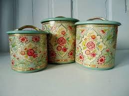 vintage kitchen canister sets