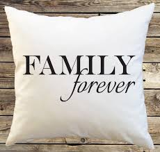 forever family pillow cover minimalist typography pillow