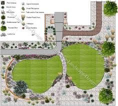 A Mediterranean Front Yard Plan - Backyard landscaping design