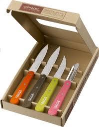 couteau cuisine opinel opinel set de 4 couteaux de cuisine essentiels colorés collishop