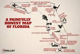 Map Of Orlando Honest Map Of Florida With Miami Orlando And The Florida Keys