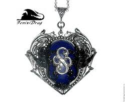 victorian necklace styles images Pendant quot endless love quot heart lapis lazuli black pegasus steampunk jpg