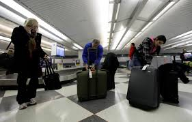 united check in luggage calm february skies help airlines to record low for mishandled