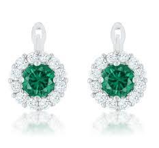 emerald drop pallas emerald simple drop earrings 2 8ct cubic zirconia