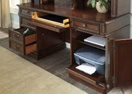 Executive Desk And Credenza Brayton Manor Jr Executive Credenza Hutch With Poplar Solids