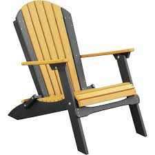 Yellow Plastic Adirondack Chair Luxcraft Folding Recycled Plastic Adirondack Chair Rocking Furniture