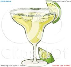 cocktail cartoon clipart of a cartoon margarita cocktail garnished with lime