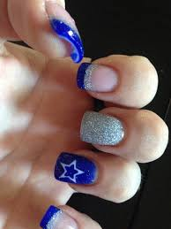dallas cowboys nails with imbedded star nails i u0027ve done