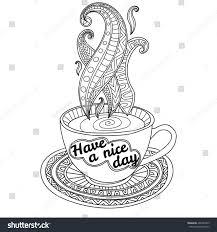 vector coffee tea cup abstract ornaments stock vector 406323925