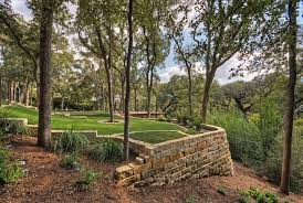 modern retaining wall stones landscape wall design planter box