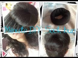 sock hair bun minute diy sock bun hair doughnut non heat big curls