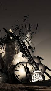 abstract clocks abstract hd shattered clocks town android wallpaper free download