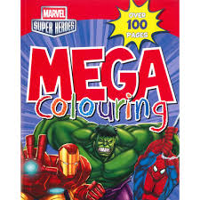 marvel super heroes mega colour marvel children u0027s colouring