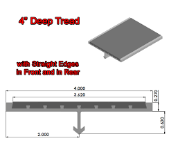 aluminum stair treads with anchors are metal stair treads by