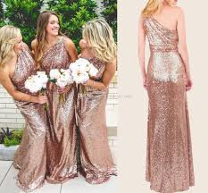 159 99 rose gold sequin bridesmaid dress one shoulder bridesmaid