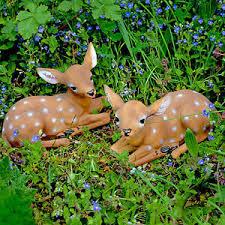 realistic fallow deer fawn garden animal ornaments polyresin