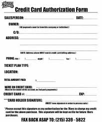 credit card form credit card authorization form template credit