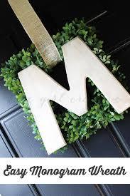 monogram wreath easy monogram wreath the girl creative