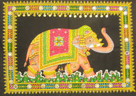 Home Decor India Decorated Indian Elephant Tapestry Sequin Wall Hanging Bohemian