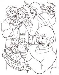 jesus feeds 5000 coloring page throughout the omeletta me