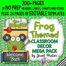 theme classroom decor frog theme classroom decor editable frog classroom theme decoration