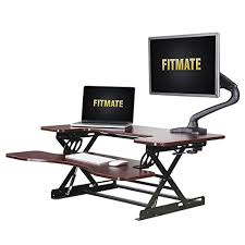 stand up desk multiple monitors fitmate 36 height adjustable work standing desk converter fits two
