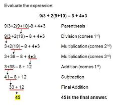 Order Of Operations Worksheet Answers Order Of Operations
