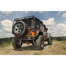 bumpers for jeep rugged ridge 11544 64 spartacus bumper with rider bar winch