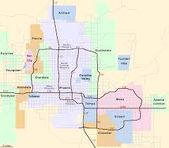 phx map location map for hotels in the greater area arizona