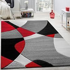 tappeto moderno rosso tappeto di design moderno motivo geometrico taglio sagomato in