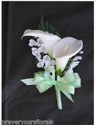 Mint Green Corsage Mint Green Boutonnieres Wedding Boutonniere Paper By Centertwine