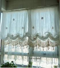 Pull Up Curtains Sale Shabby Chic Drawnwork Balloon Curtain Pull Up Curtain